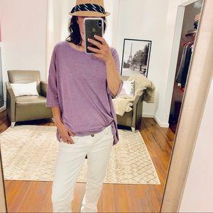 Lularoe Purple Heather T shirt Tunic Size Small